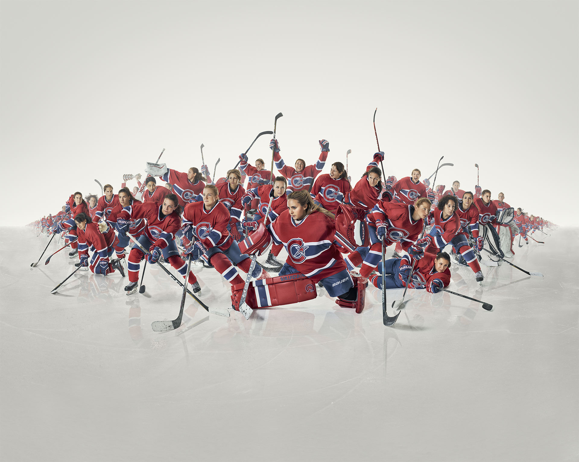 Les Canadiennes de Montréal 2017 team photo